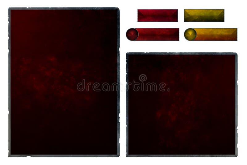 Grupo de elementos rubby realísticos da relação ilustração royalty free
