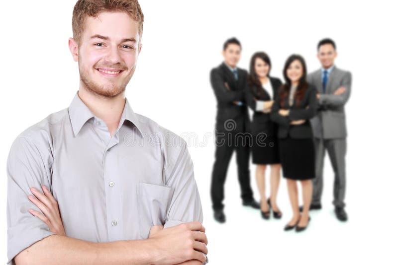 Grupo de empresário novo asiático fotos de stock