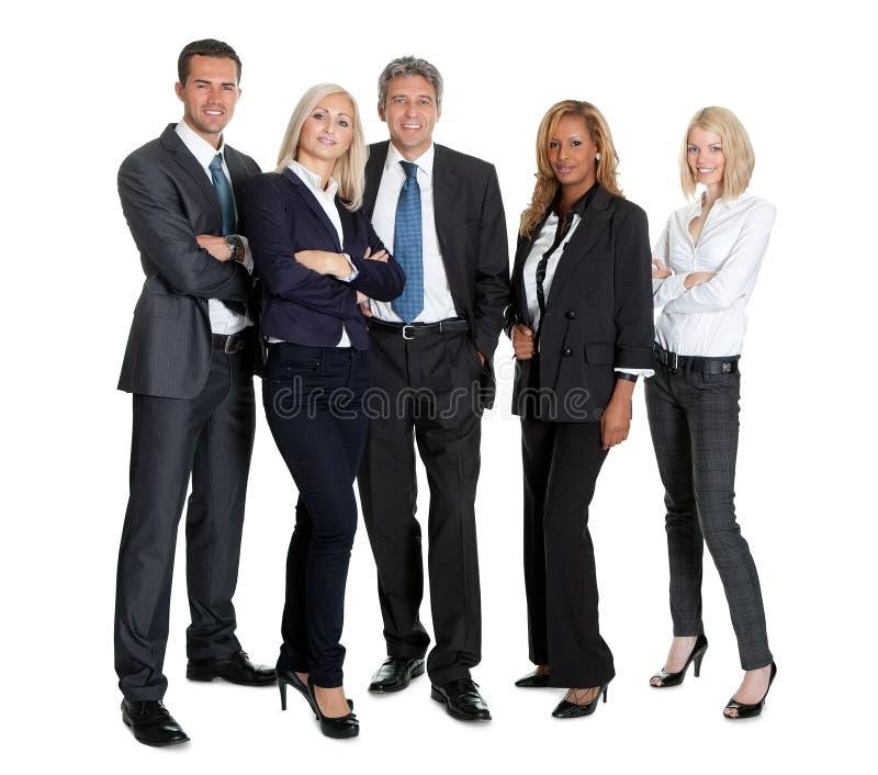 Grupo de empresarios acertados imagen de archivo