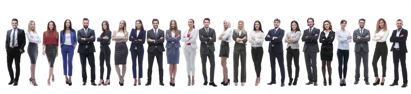 Grupo de empresarios jovenes que se colocan en fila foto de archivo libre de regalías