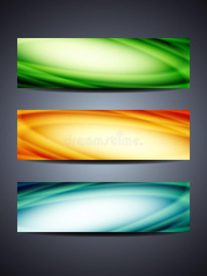 Grupo de encabeçamentos/bandeiras coloridos ilustração royalty free