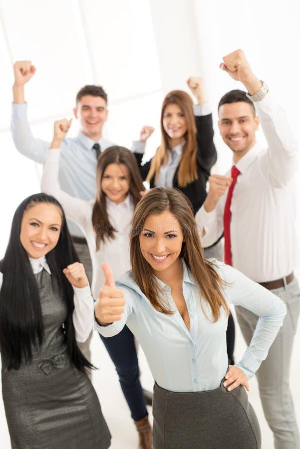 Grupo de equipe nova do negócio foto de stock royalty free