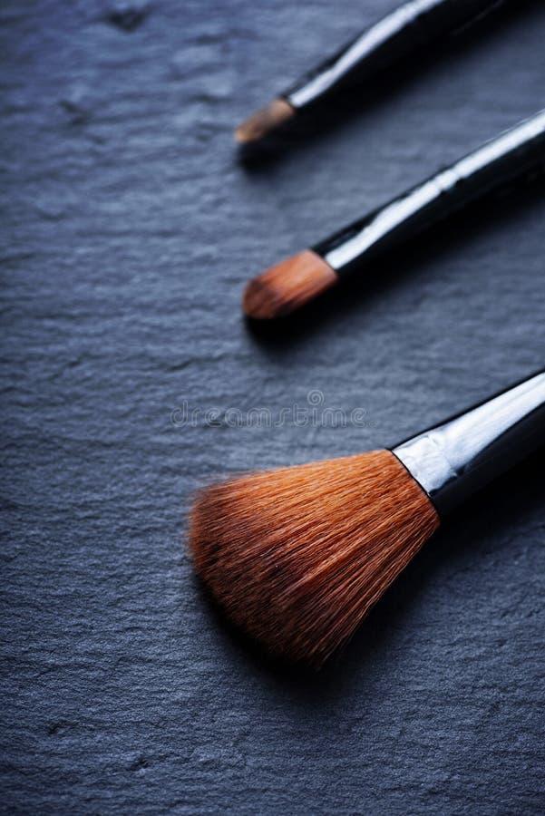 Grupo de escovas da composição fotografia de stock royalty free