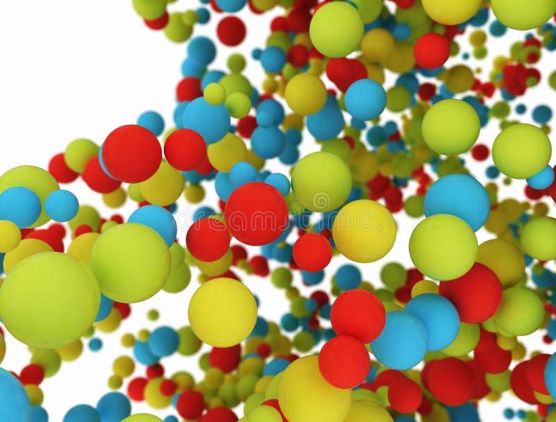 Grupo de esferas del multicolor 3d libre illustration