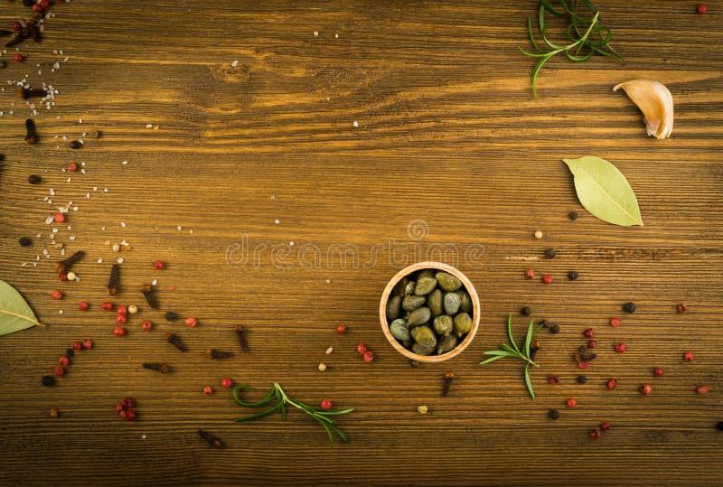 Grupo de especiarias secas fotografia de stock