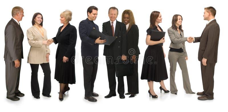 Grupo de establecimiento de una red fotografía de archivo
