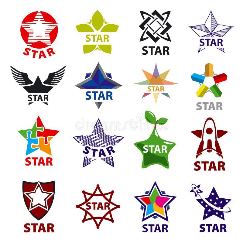 Grupo de estrela dos logotipos do vetor ilustração do vetor