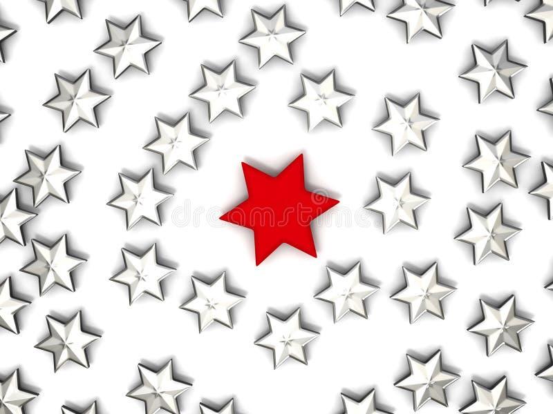 Grupo de estrellas ilustración del vector