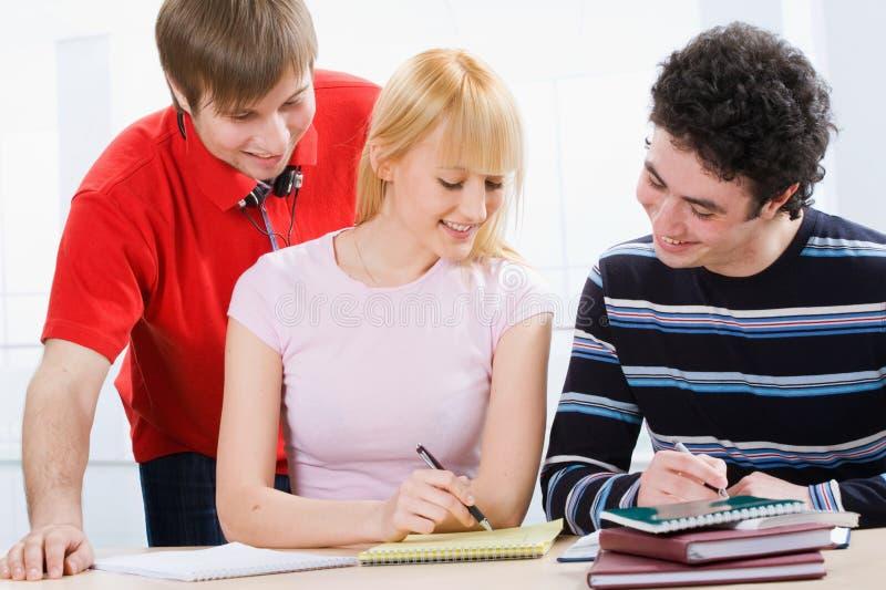 Grupo de estudantes imagens de stock