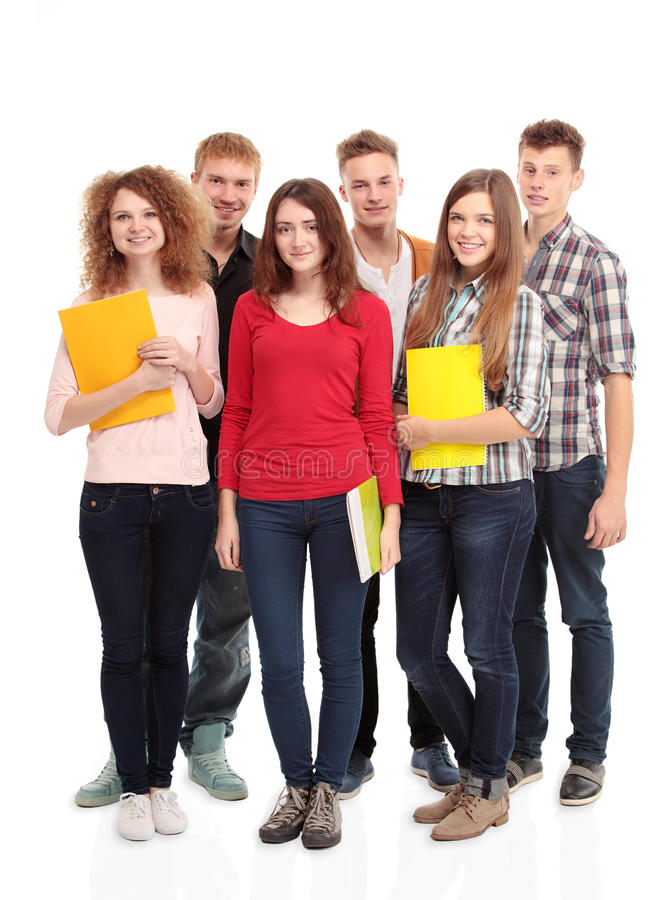 Grupo de estudantes fotos de stock