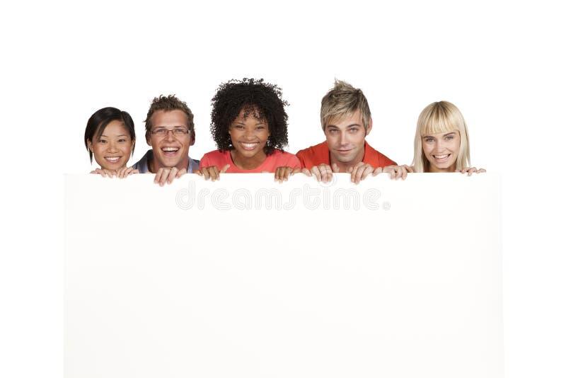 Grupo de estudantes felizes imagens de stock
