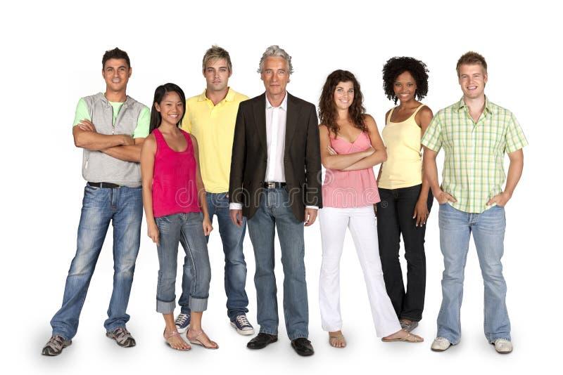 Grupo de estudiantes felices foto de archivo