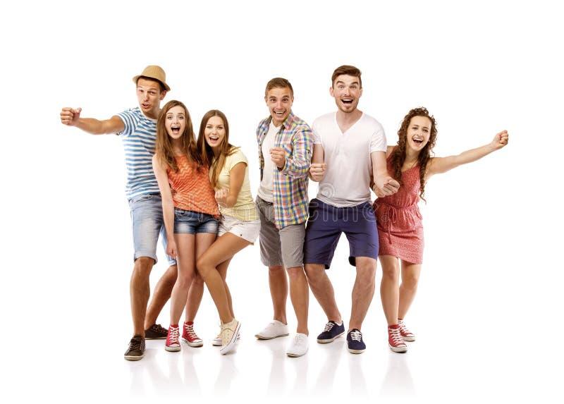Grupo de estudiantes felices imágenes de archivo libres de regalías