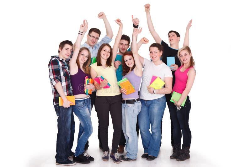 Grupo de estudiantes grande imagenes de archivo