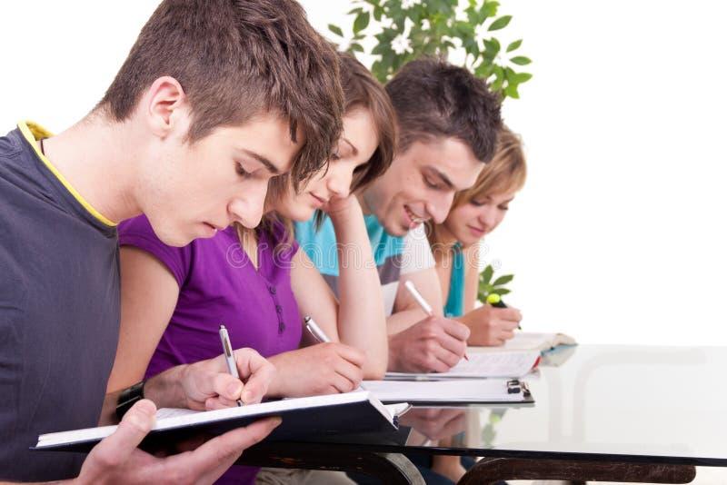Grupo de estudiar de los estudiantes imagen de archivo libre de regalías