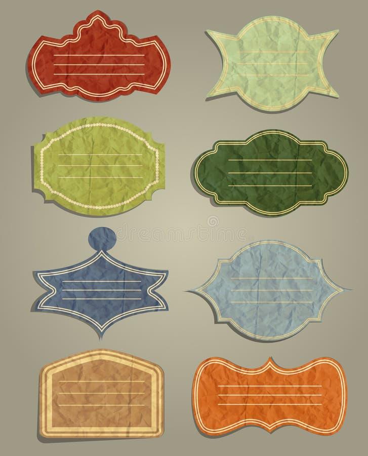 Download Grupo De Etiquetas Do Vintage Ilustração do Vetor - Ilustração de romântico, tampa: 29841436