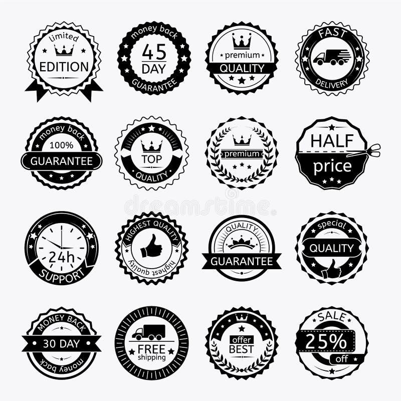 Grupo de etiquetas e de fitas para a venda ilustração royalty free