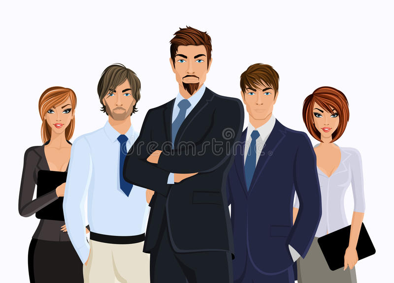 Grupo de executivos ilustração do vetor