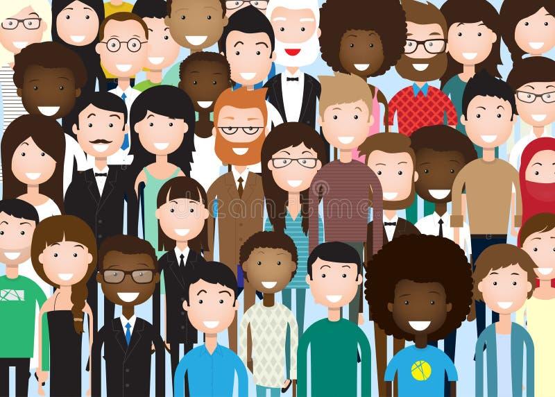 Grupo de executivos ilustração stock