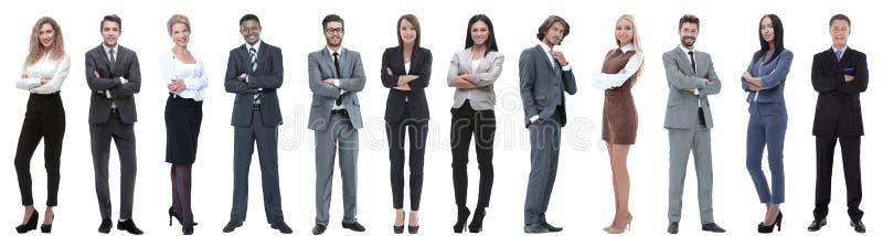 Grupo de executivos bem sucedidos isolados no branco fotos de stock royalty free