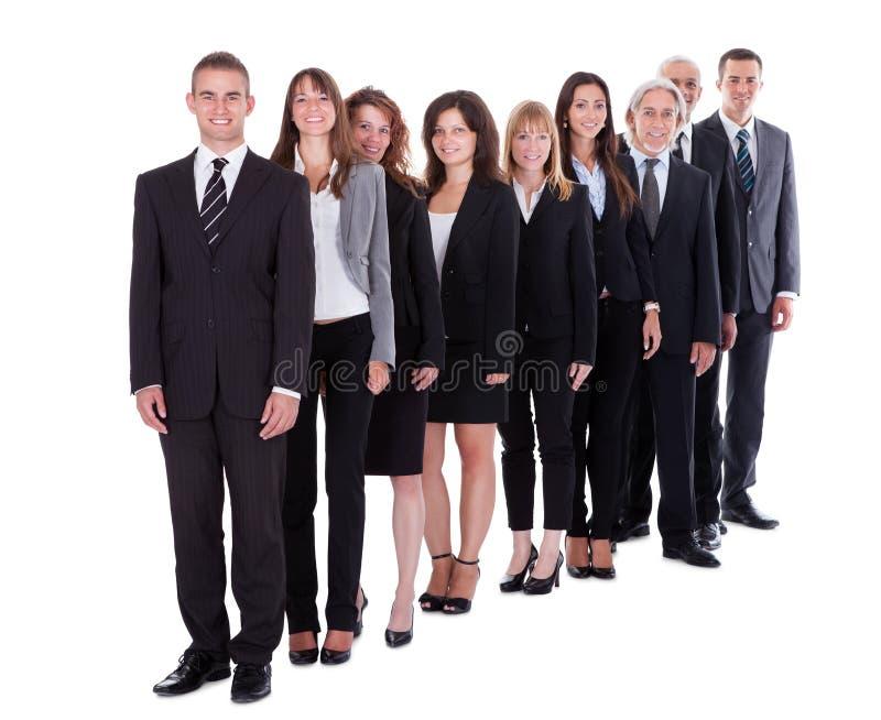 Grupo de executivos confiáveis foto de stock royalty free