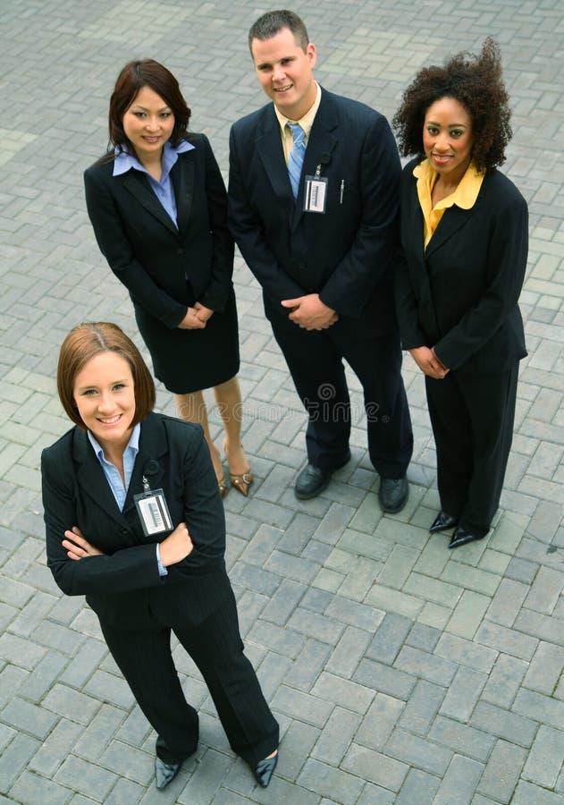 Grupo de executivos da diversidade imagem de stock