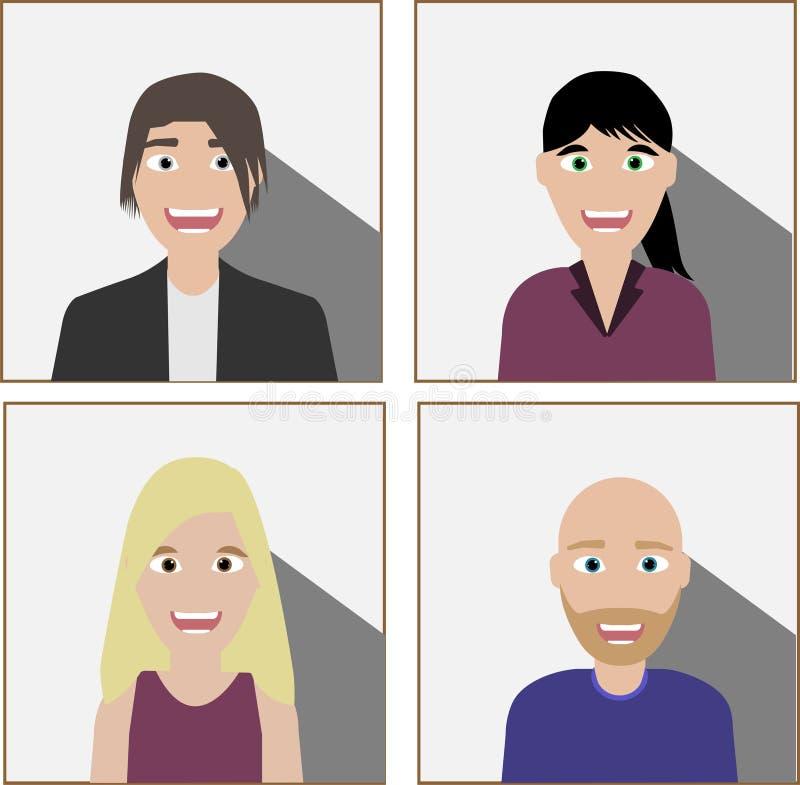 Grupo de executivos diversos ilustração royalty free