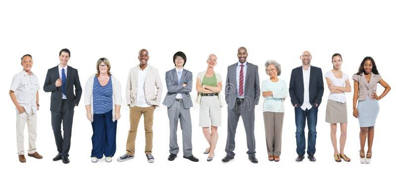 Grupo de executivos diversos multi-étnicos imagem de stock
