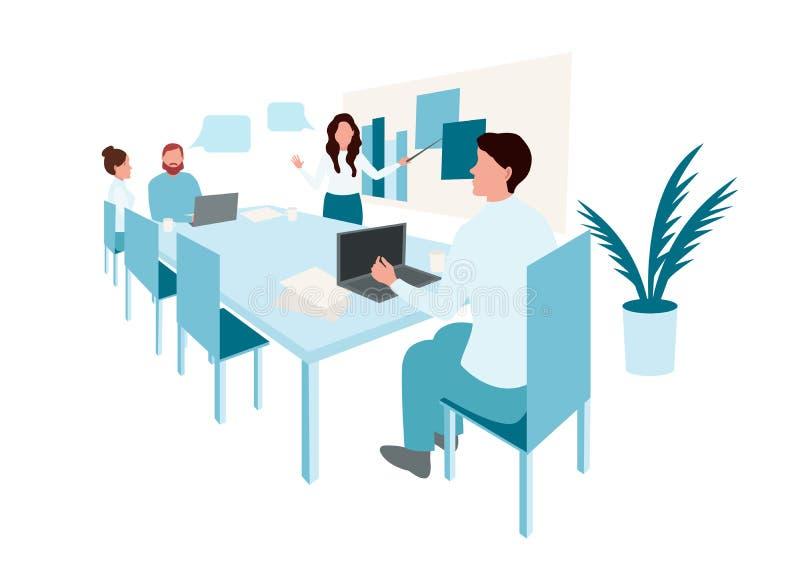 Grupo de executivos do trabalho ilustração do vetor