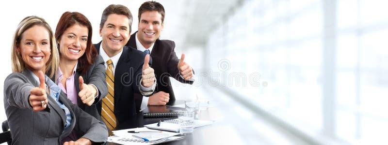 Grupo de executivos felizes fotografia de stock