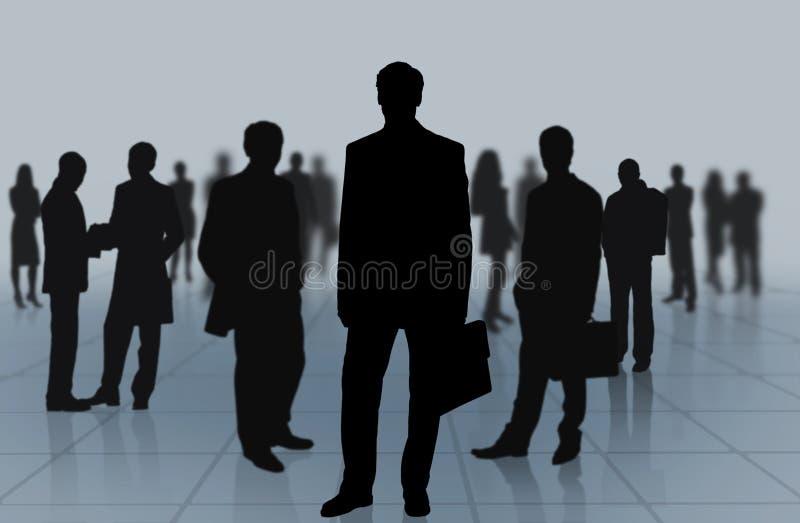 Grupo de executivos na obscuridade ilustração royalty free