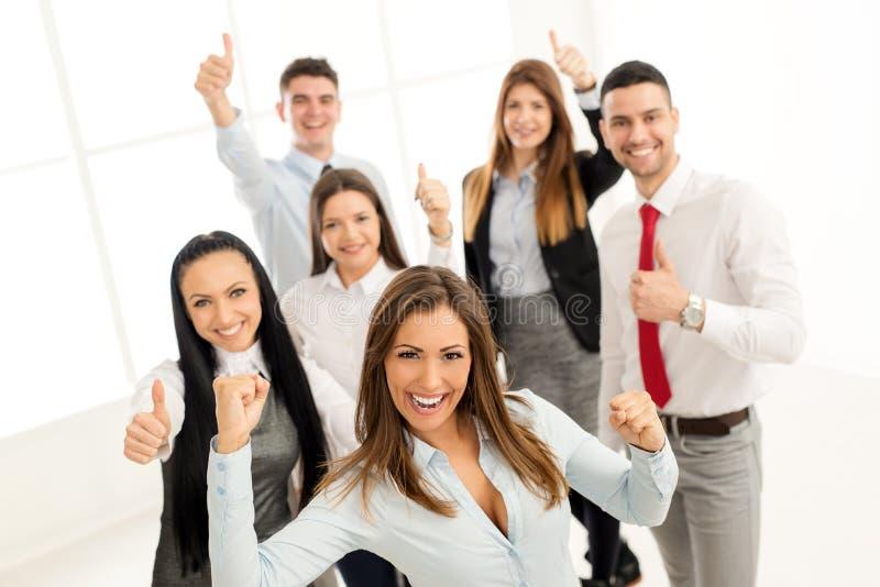 Grupo de executivos novos fotografia de stock
