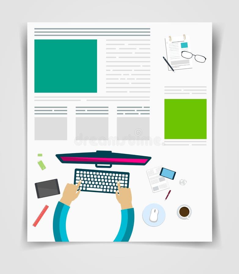 Grupo de executivos que trabalham usando dispositivos digitais em portáteis, computadores ilustração stock