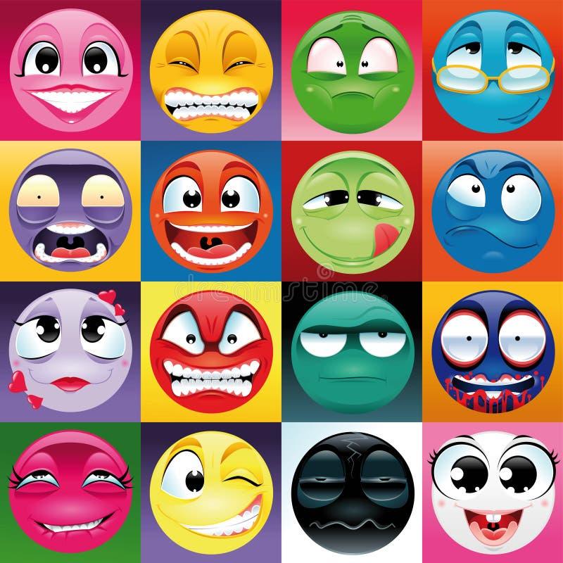 Grupo de expresión con el fondo libre illustration