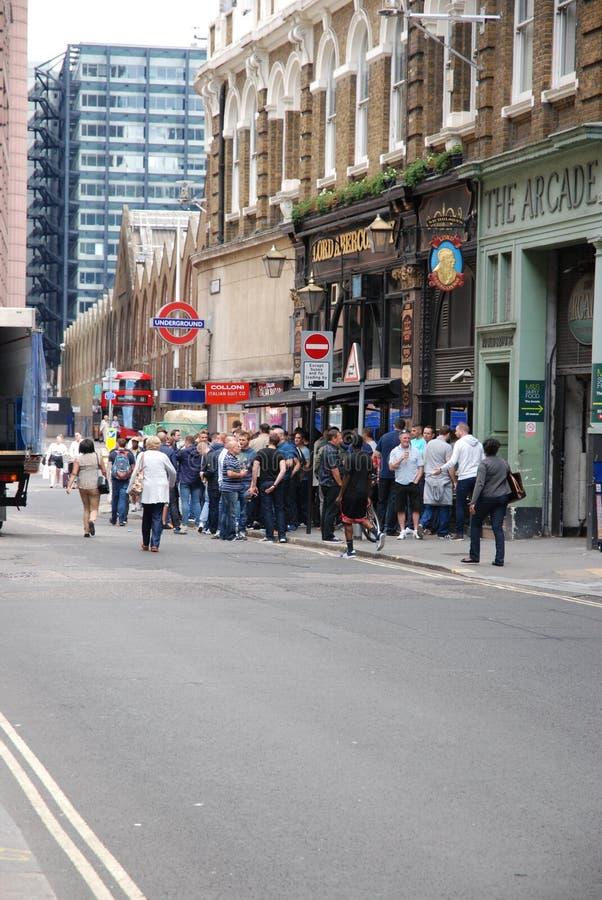 Grupo de fãs de Chelsea fotografia de stock royalty free