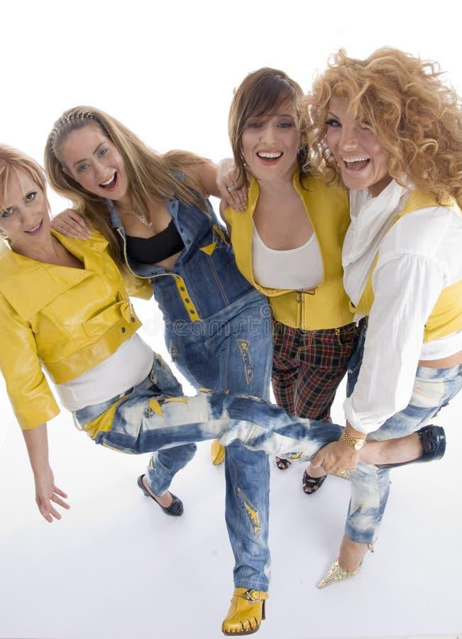 Grupo de fêmeas adultas brincalhão foto de stock royalty free