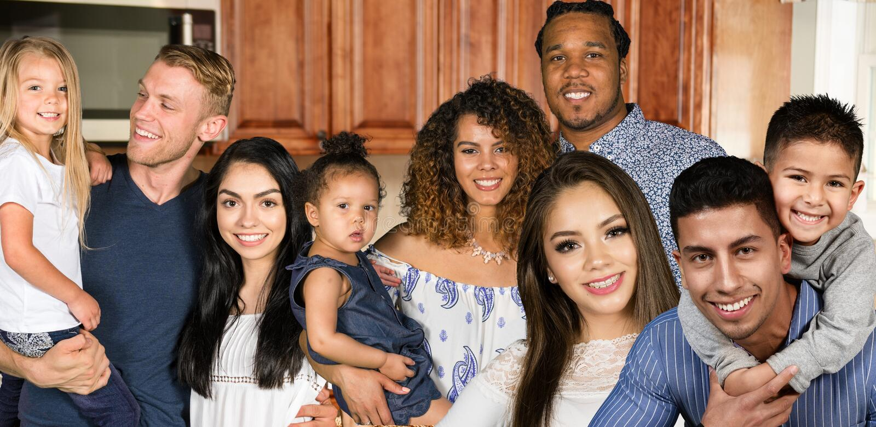 Grupo de familias imagen de archivo