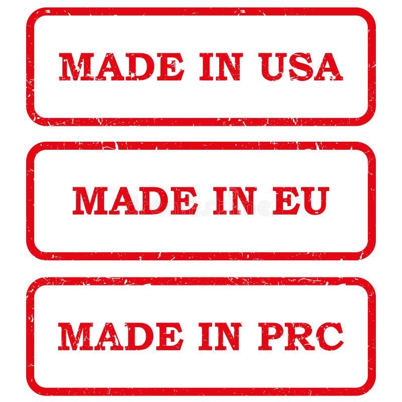 Grupo de feito nos selos ilustração do vetor
