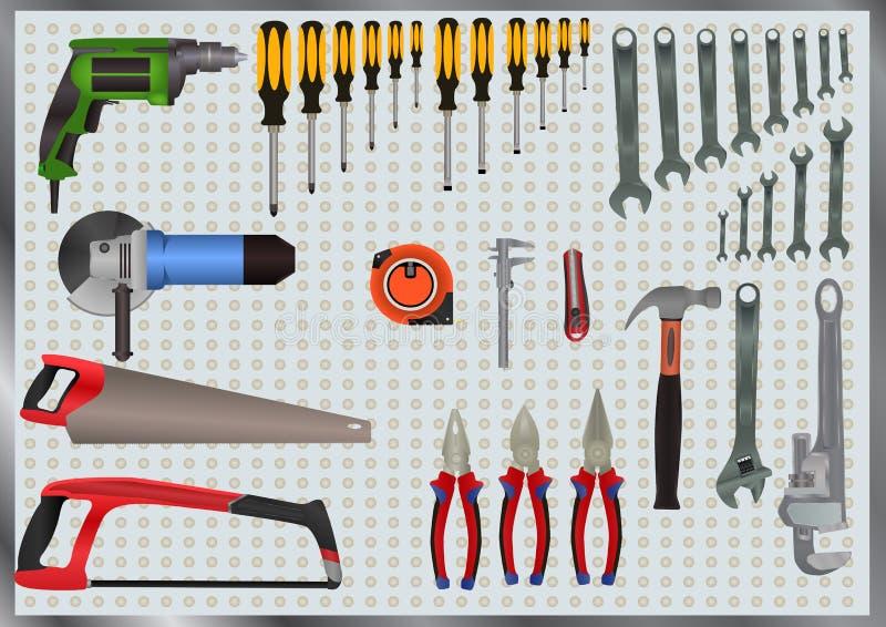 Grupo de ferramentas da mão ilustração stock