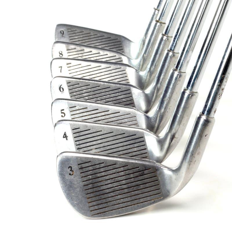 Grupo de ferros do golfe imagens de stock royalty free
