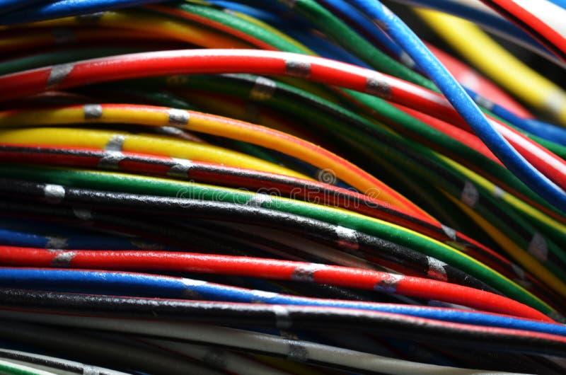 Grupo de fios bondes imagem de stock