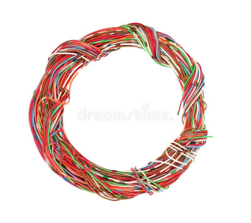Grupo de fios coloridos imagens de stock