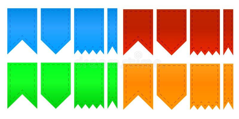 Grupo de fitas coloridas ilustração do vetor