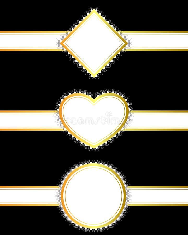 Download Grupo De Fitas Douradas Com Bandeiras Ilustração Stock - Ilustração de cumprimento, projeto: 80102256