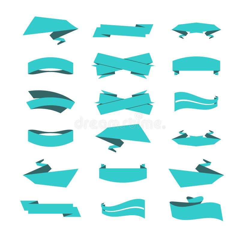 Grupo de fitas e de etiquetas no vetor ilustração do vetor
