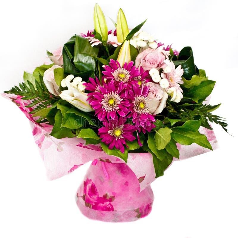 Grupo de flores cor-de-rosa foto de stock
