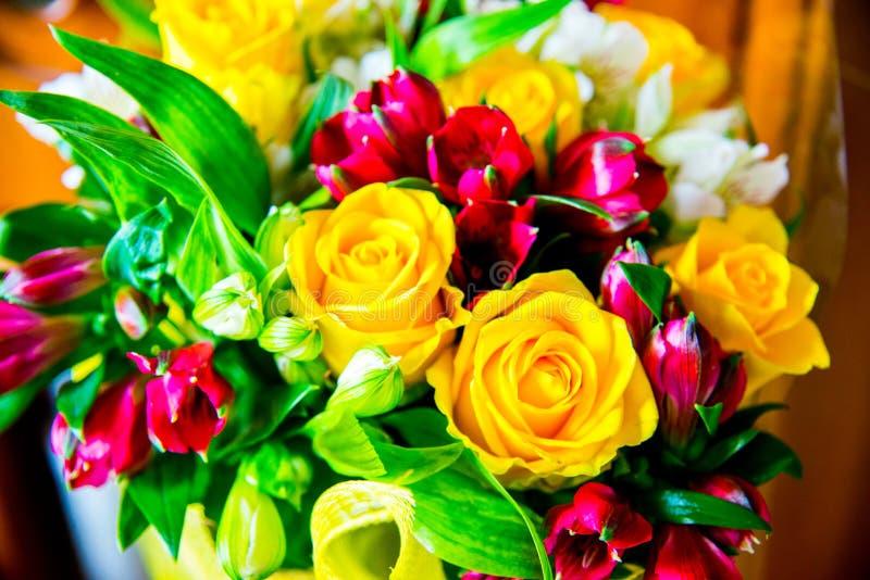Grupo de flores diferente e fresco fotografia de stock