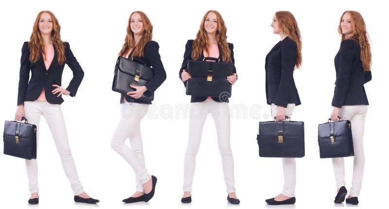 Grupo de fotos com mulher de negócio fotos de stock royalty free