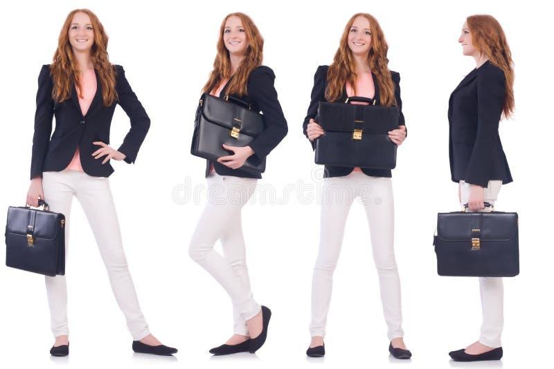 Grupo de fotos com mulher de negócio fotografia de stock royalty free