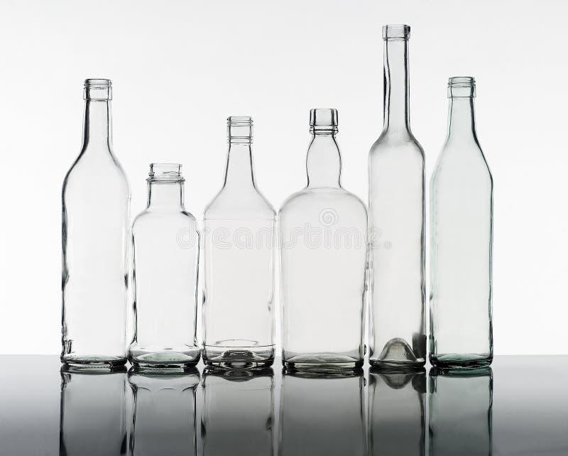 Grupo de frascos imagens de stock royalty free